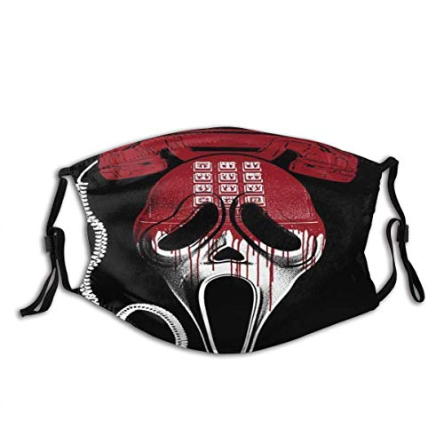 Face mask reusable Women in Horror and The TV Movie Scream Balaclava Unisex Reusable Windproof Anti-Dust Mouth Bandanas Outdoor Camping Motorcycle Running Neck Gaiter for Teen Men Women Made in USA
