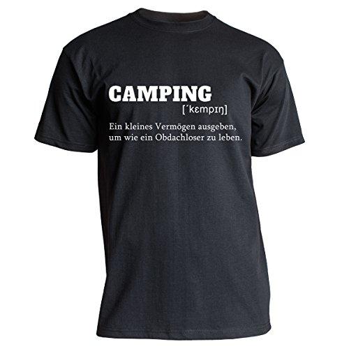 Nukular T-Shirt Camping Definition, Farbe schwarz, Größe XL