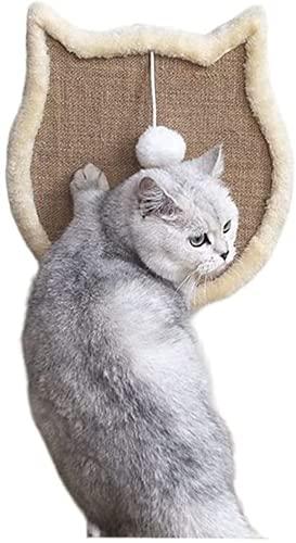 XiuLi Muebles para Gatos de 43 cm * 43 cm, Tabla para rascar, Manta para rascar, Almohada de Cuerda de sisal Natural, Almohada para rascar, cojín, Alfombra