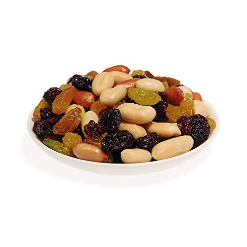 KERNenergie Sportfutter (4x60g) | Hochwertiger Nuss- Frucht-Mix mit gerösteten Erdnüssen und süßen Rosinen | In edlen Aludosen und Geschenk Box