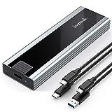 Inateck NVMe M.2 Custodia, velocità di Trasmissione di 10 Gbps, Supporta SSD M.2 NVMe e SATA, con Cavo USB da Type-A a Type-C e da Type-C a Type-C, Installazione Senza Attrezzi, FE2027