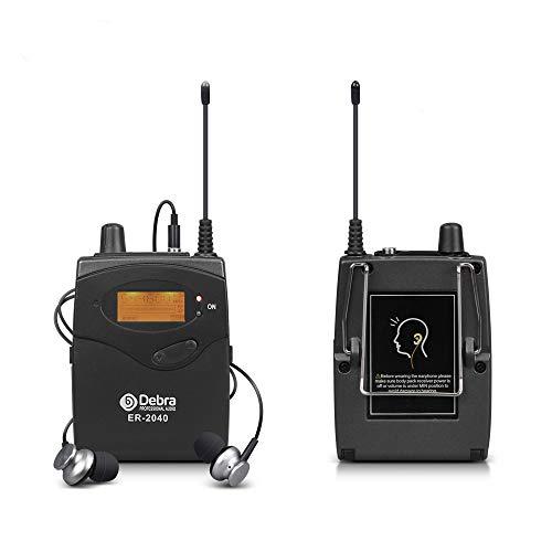 Sistema de monitor de oído UHF profesional Monitoreo de canal dual ER-2040...