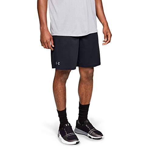 Under Armour UA Tech Mesh, atmungsaktive Sweatshorts mit Seitentaschen, komfortable kurze Hose mit loser Passform Herren, Black / Pitch Gray , M