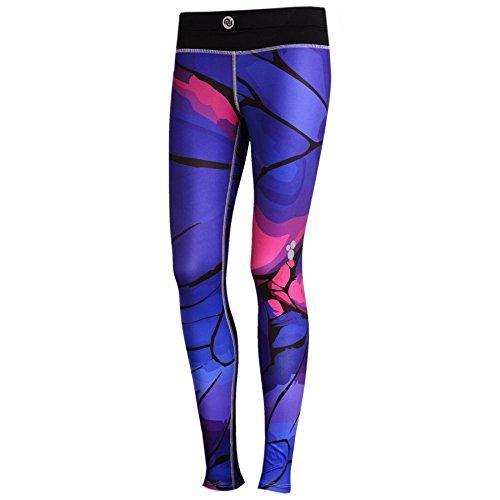Nessi Collant de Course Sport Leggings Oslp Fitness poches de pantalon respirant 46 Violet Twig 46 XXS/XS