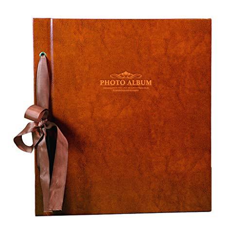 HAOWEIH Large Capacity Interstitial Photo Album, Retro PU Memorial Album Holds 1000 Photos 6X4(4R) 12.6'X14'X2.6'