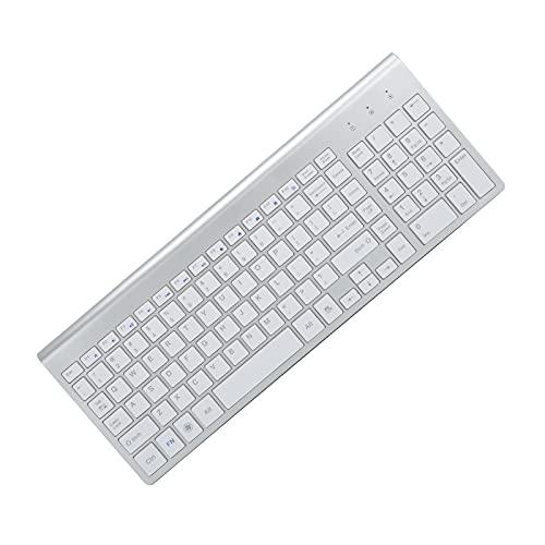 SALUTUY Combinazione di tastiera e mouse wireless, combinazione di tastiera e mouse design silenzioso che riduce il rumore per il lavoro per uso domestico.