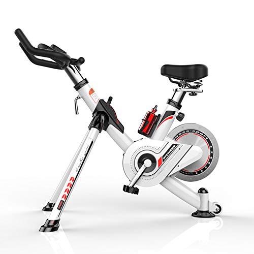 Speee Magnetische Heimtrainer Stationärer Riemenantrieb Indoor Cycling Bike Mit Hoher Gewichtskapazität Einstellbarer Magnetwiderstand Mit LCD-Monitor - Weiß