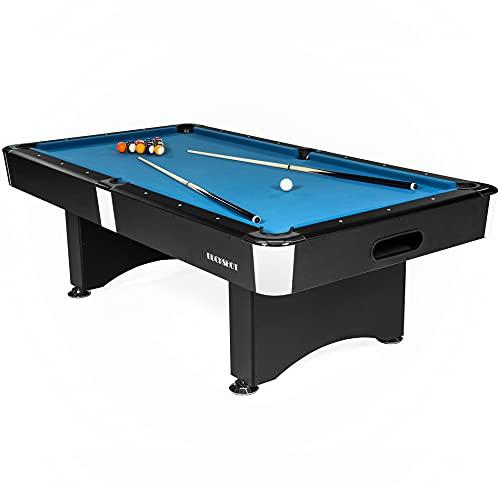 Buckshot Billardtisch 7ft Manhattan - 213x122x80 cm - 7 Fuß Pool Billard - Kugelrücklauf - Tischbillard mit Zubehör - Billard Tische 110kg