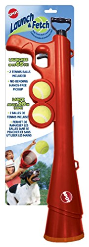 SPOT Ethical Pets 54299 Launch & Fetch Tennis Ball Launcher Interactive Dog Toy, 24'