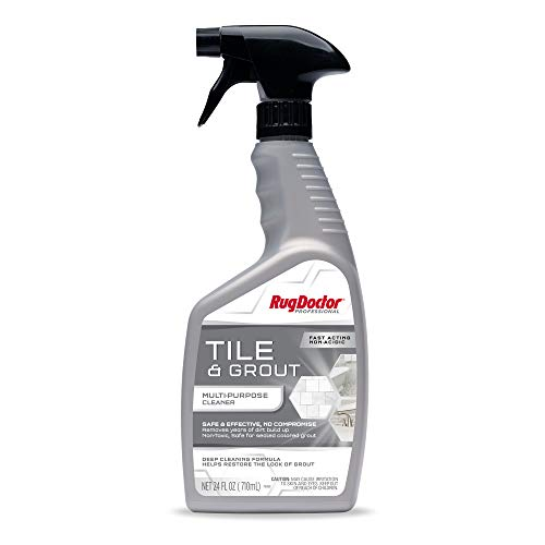 Rug Doctor, Bath Tile & Grout Multi-Purpose Ready-to-Use Cleaner, 24 oz. Safe & Effective with No Compromise Pro-enzymatic Formula for Kitchens, Bath & More, 24 Fl Oz