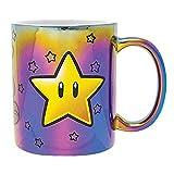 Super Mario - Taza Metálica Star Power, 320ml