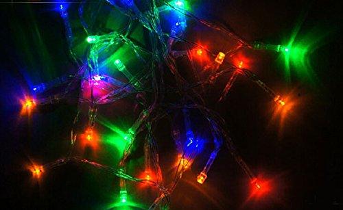 Samgu Lumière chaîne de LED, 2 mètres 20Leds RGB LED Guirlande led lampe ampoule éclairage étanche pour jardin décoration extérieur intérieure lumineuse idéal pour Noël , fêtes , mariages, maison, sapin de noël