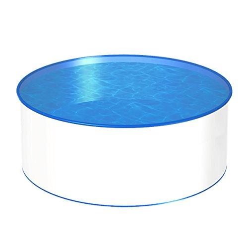 POWERHAUS24 MTH Schwimmbecken, rund, 4,00m, Tiefenauswahl, 0,7mm Stahlwand, Folie mit Keilbiese-1,35m