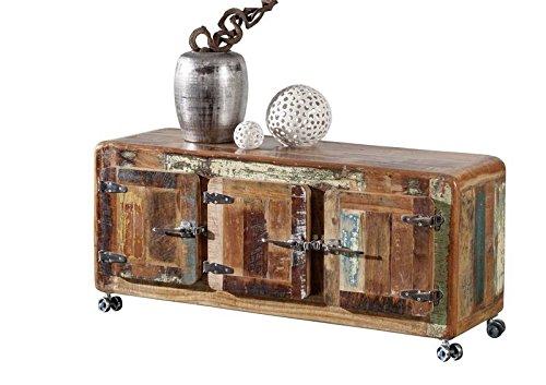 MASSIVMOEBEL24.DE Massivmöbel lackiert Holz Eisen Altholz Industrial-Stil Sideboard Massivholz Holz Möbel Freezy #04