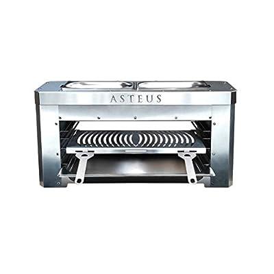 Asteus 4260293725400 Family V2-800 Grad Infrarot Elektro Grill, Silber, 70 x 25 x 34 cm