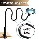 Soporte de clip para teléfono móvil, con agarre flexible y cuello de cisne para iPhone X/8/7/6/6/6S Plus Samsung S8/S7, para cama, escritorio