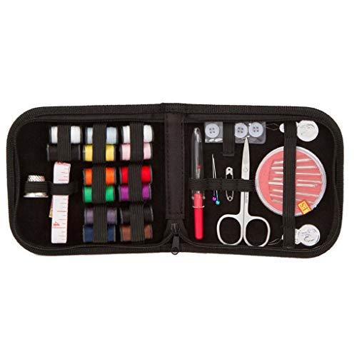 Topker 27pcs Mini Kit de Costura hogar del Recorrido del Hilo Tijeras de Costura Accesorios Estuche Color al Azar