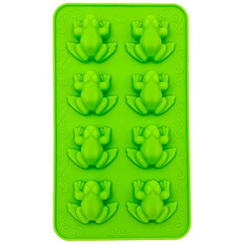 Frozen Frogs Silicone Mold, Candy Chocolate Frog Molds for Birthday, party, cake Decoration Passover Bake Ware and Ice Tray