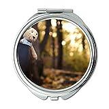 Mirror,Compact Mirror,adorable cute macro,pocket mirror,portable mirror