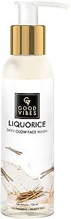 Good Vibes Liquorice Skin Glow Face Wash - 120 ml - Helps Brighten Skin Tone, Fades Dark Spots and Removes Skin Impurities...