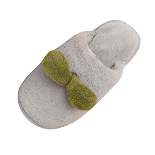 in budget affordable Armfre Kids Plush Slippers Nice Green Glass Comfortable faded fleece slippers Non-slip slippers …
