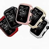5 pièces huilées étuis pour Apple Watch série 6/5/4 / Se PC Housse de Protection Anti-Chute...