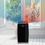 Honeywell, MN14CHCSBB Portable Air Conditioner with Heat Pump, Dehumidifier & Fan Cools & Heats Rooms Up to 450-550 Sq. Ft. with Remote Control, Black