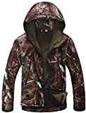 VEFSU Mens Waterproof Windproof Military Tactical Jacket Soft Shell Coat Camouflage Hooded Army Jackets,Big...