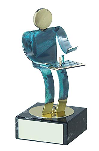 Trophy Monster - Reproductor de ajedrez Hecho a Mano (Metal, 2 tamaños), Multicolor, 270 mm