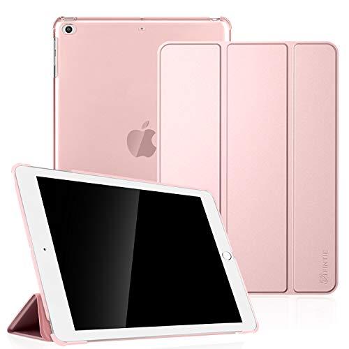 Fintie, hoes, compatibel met iPad Air 2 (2014 model), iPad Air (2013 model), ultradun, superlicht, beschermhoes met transparante achterkant met automatische slaap-waakfunctie iPad Air roségoud