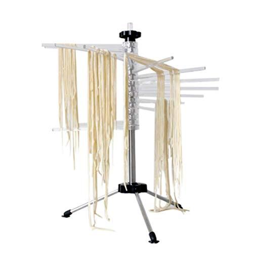 Tebery - Stendipasta per Pasta Fino a 2,5 kg, 16 pioli estensibili, Asta di Trasporto Integrata, Pieghevole