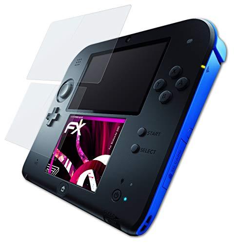 atFoliX Lámina Protectora de plástico Cristal compatible con Nintendo 2DS Película Vidrio, 9H Hybrid-Glass FX Protector Pantalla Vidrio templado de plástico (Set de 1)