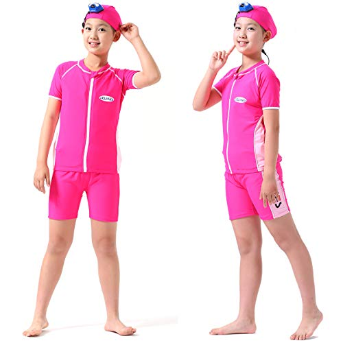 Lowest Price! TCLIVES Teen Boys Girls Kids One Piece Swimsuit with Smart Safety Invisible Life Jacke...