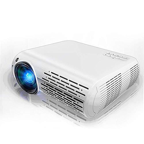 DHINGM Práctico proyector de Cine en casa HD, Compatible con HDMI/VGA/USB/SD/AV, for el Cine en casa Entretenimiento Juegos Partes