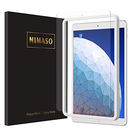 【ガイド枠付き】Nimaso iPad Air 3 (2019)/ iPad Pro 10.5 フィルム 強化ガラス 液晶保護フィルム