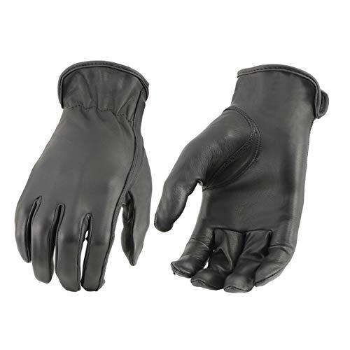 Milwaukee Leather MG7797 Guantes de equitación negros con tecnología Cool-Tech para mujer, talla pequeña