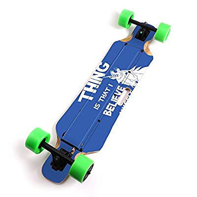 "MightySkins Skin Compatible with Blitzart Huracane 38"" Electric Skateboard - Unicorns Believe 