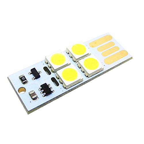 SDENSHI Linterna Mini USB Touch interruptor 4 LED luz nocturna lámpara tarjeta lámpara blanco