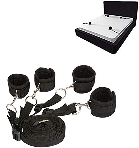 Read About Woman's Bed Tied Stráps Bedroom Cuffs Set