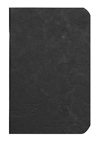 Clairefontaine 734101C Linea Age Bag Quaderno Spillato 9X14 96P Pagina Neutra Nero