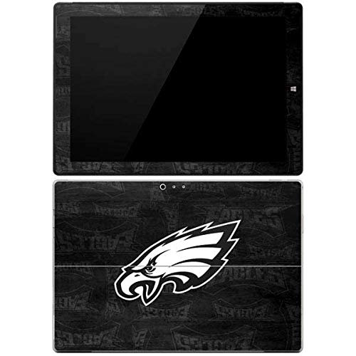 Skinit Decal Tablet Skin Compatible with Surface Pro 3 - Officially Licensed NFL Philadelphia Eagles Black & White Design