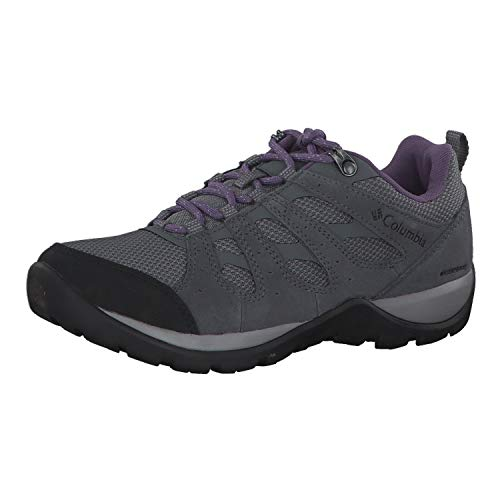 Columbia Women's Redmond V2 Waterproof Hiking Shoe, Ti Grey Steel/Plum Purple, 8
