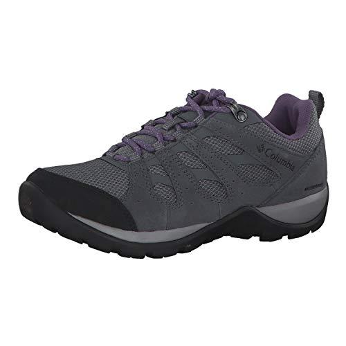 Columbia Redmond V2, Zapatillas de Senderismo Impermeables Mujer, Gris, Morado (Ti Grey Steel, Plum Purple), 37 EU