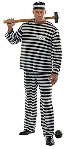 Amscan 840227 Men Jail Prisoner Costume Set - Standard Size
