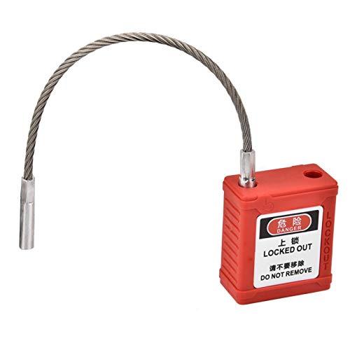 Candado de metal con bloqueo de aislamiento de cilindro de bloqueo especial resistente a los rayos UV, para seguridad de ingeniería