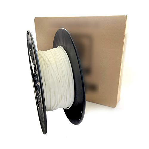 3D printer filament - TPE/TPU RUBBER - COLOR NATURAL WHITE - Shore 30 D - 1.75 mm - Weight 500 g