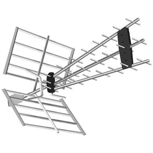 TM Electron TMANT100 - Antena de Exterior preparada TDT HD, Color Negro