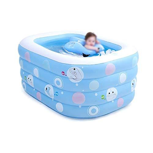NXYJD Ampliación de la bañera Inflable, bañera Plegable Edad, de pie Bañera SPA Bañera, Azul
