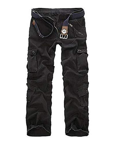 Anaisy Spodnie bojówki męskie do mycia wody bojówki tkanina spodnie bawełniane na co dzień luźne bojowe spodnie festiwalowe spodnie turystyczne z wieloma kieszeniami bez paska