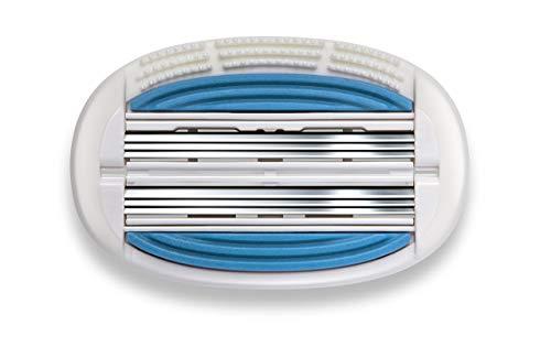 Dorco EVE 6 Rasierer für Damen: 6 Klingen Rasierapparat Dual-Design folgt Körperkonturen - Schwenkkopf für maximale Abdeckung - Pflegestreifen mit Aloe, Vitamin E und Lavendel (16 Klingen)